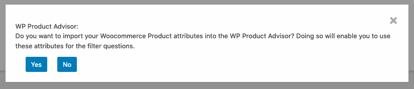 Attributes from Woocommerce can nnow be imported into the WP Product Advisor
